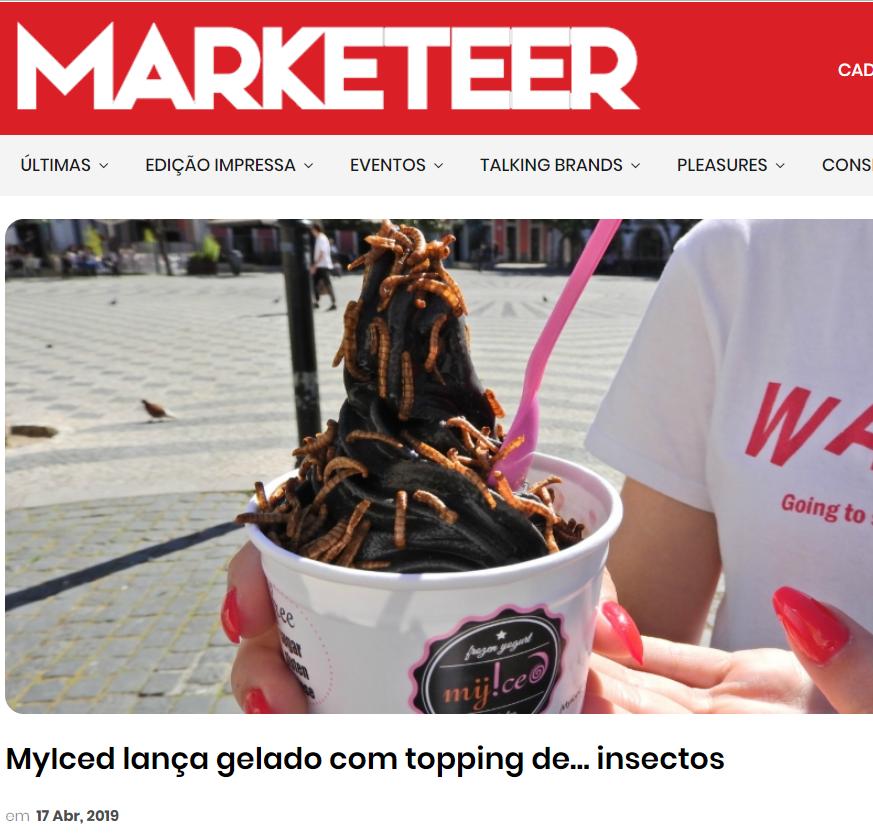 Marketeer, MyIced lança gelado com topping de… insectos