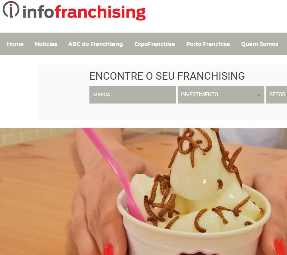 Infofranchising, MyIced com insetos para o topo do iogurte