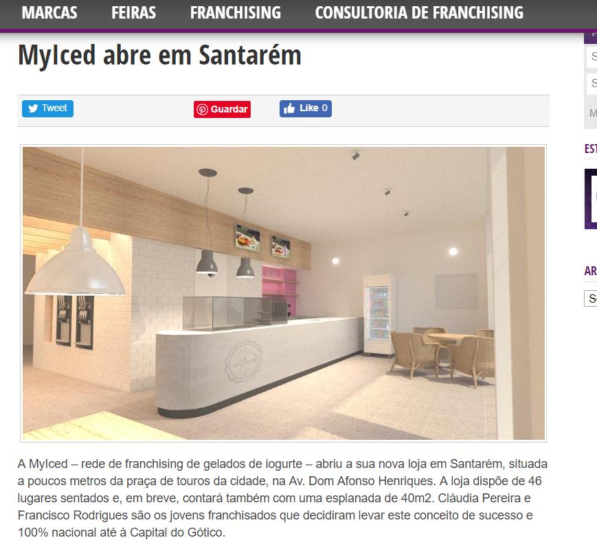 GoFranchising|MyIced abre em Santarém