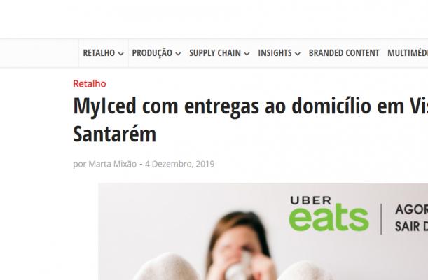 Distribuição Hoje MyIced com entregas ao domicílio em Viseu, Leiria e Santarém