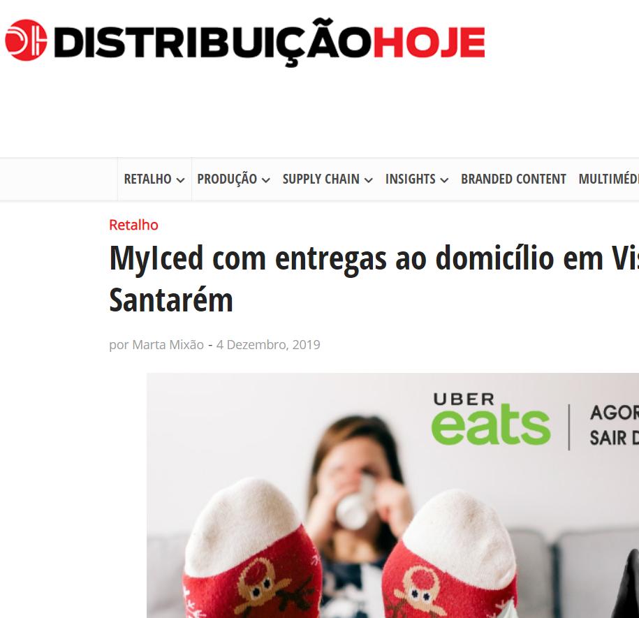 Distribuição Hoje - MyIced com entregas ao domicílio em Viseu, Leiria e Santarém