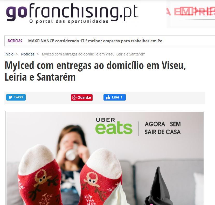 GoFranchising MyIced com entregas ao domicílio em Viseu, Leiria e Santarém