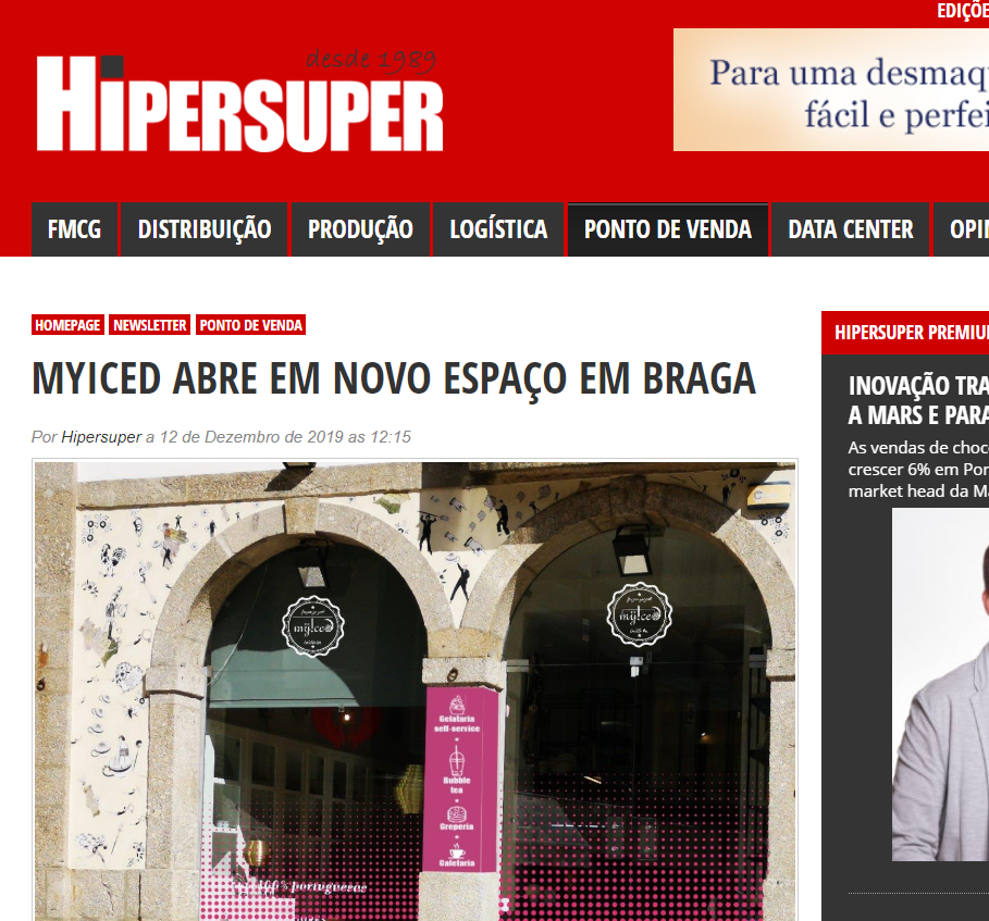 Hipersuper - MYICED ABRE EM NOVO ESPAÇO EM BRAGA