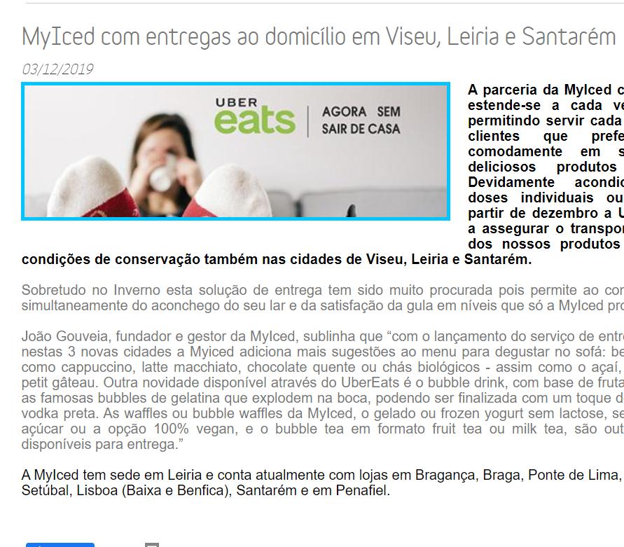 ComprarFranchising - MyIced com entregas ao domicílio em Viseu, Leiria e Santarém