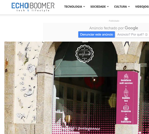 EchoBoomer MyIced Braga muda-se para novo espaço junto ao jardim de Santa Bárbara