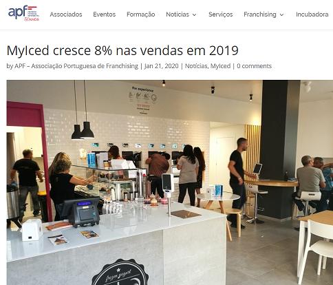 Associação Portuguesa de Franchising - MyIced cresce 8% nas vendas em 2019