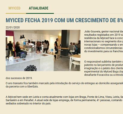 Franchisinvest - MYICED FECHA 2019 COM UM CRESCIMENTO DE 8% NAS VENDAS