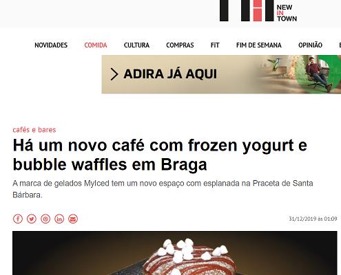 NiT|Novo espaço MyIced com frozen yogurt e bubble tea em Braga
