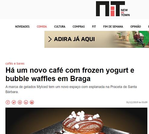 NiT - Novo espaço MyIced com frozen yogurt e bubble tea em Braga
