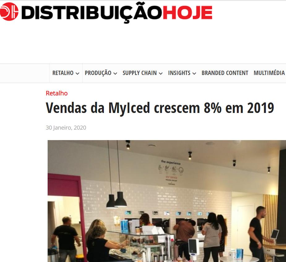 Distribuição Hoje - Vendas da MyIced crescem 8% em 2019