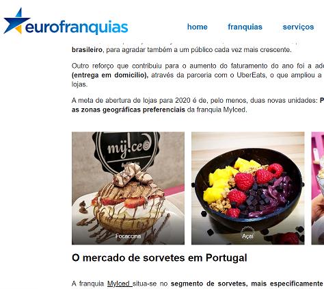 Eurofranquias - Franquia MyIced fatura quase 1 milhão de euros em Portugal
