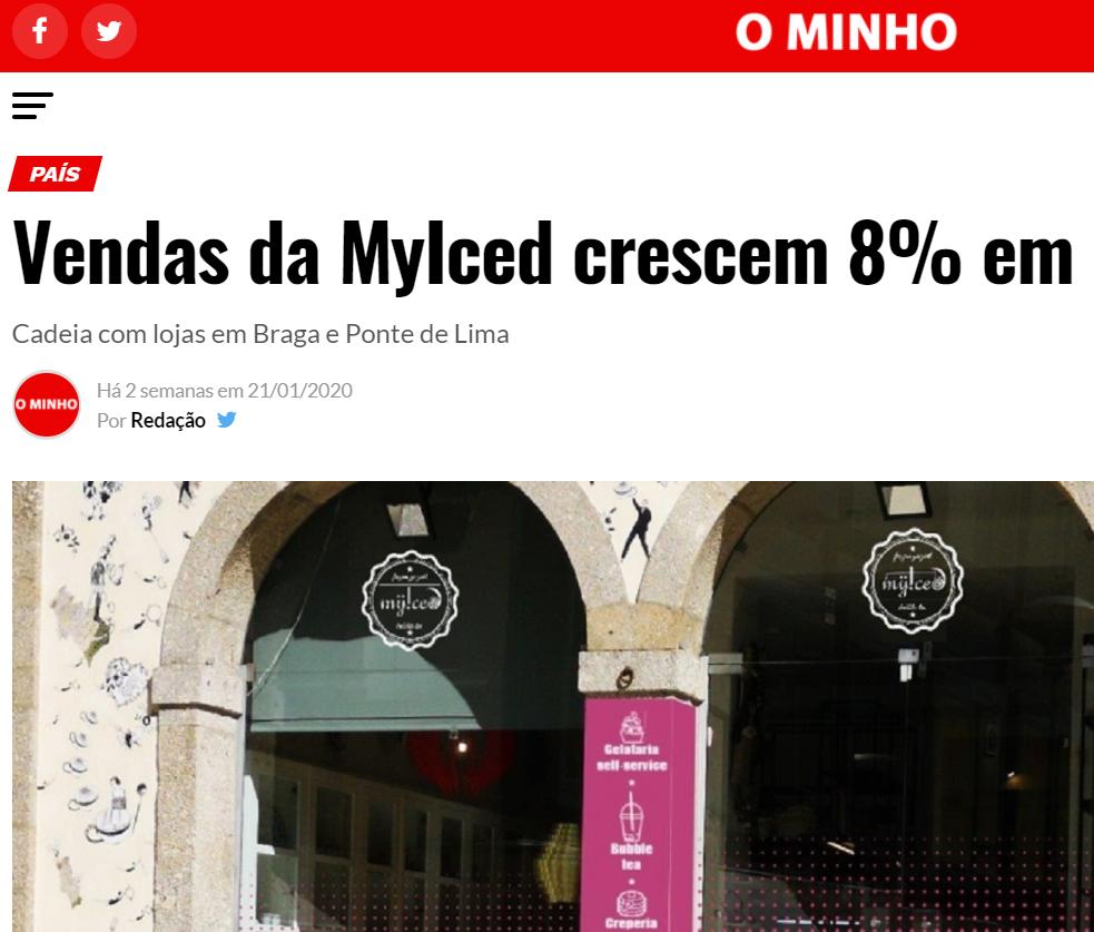 O Minho - Vendas da MyIced crescem 8% em 2019
