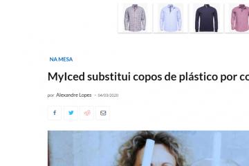 EchoBoomer - MyIced substitui copos de plástico por copos biodegradáveis