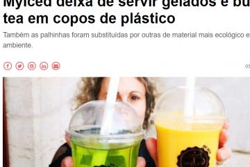 NiT|MyIced deixa de servir gelados e bubble tea em copos de plástico