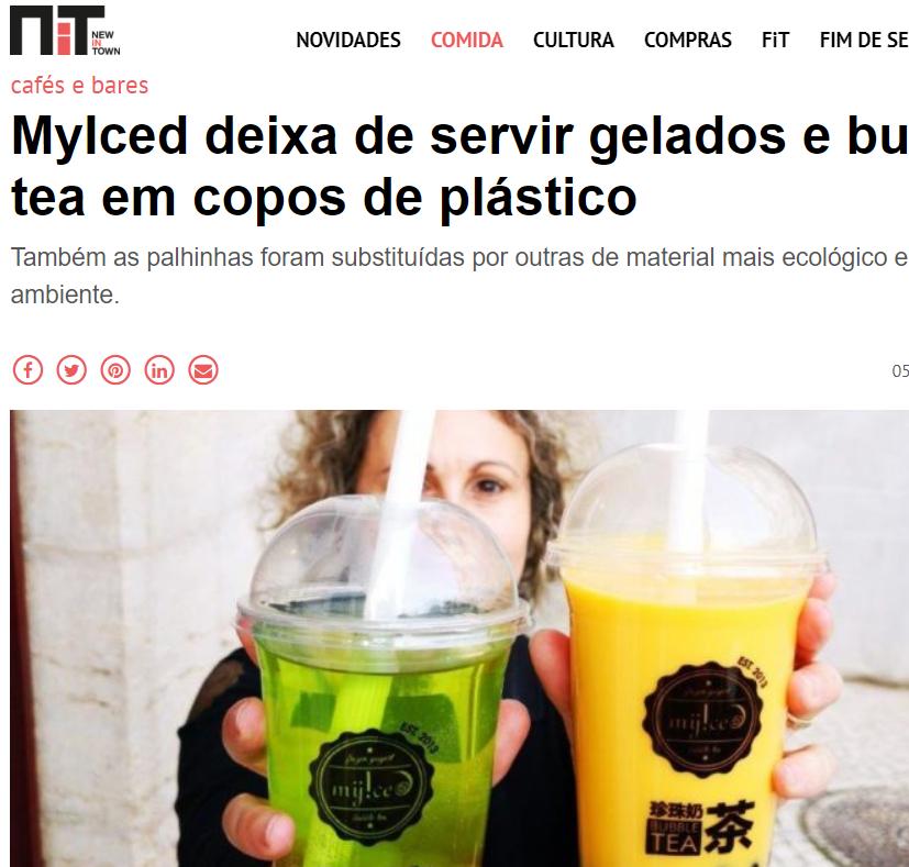 NiT - MyIced deixa de servir gelados e bubble tea em copos de plástico