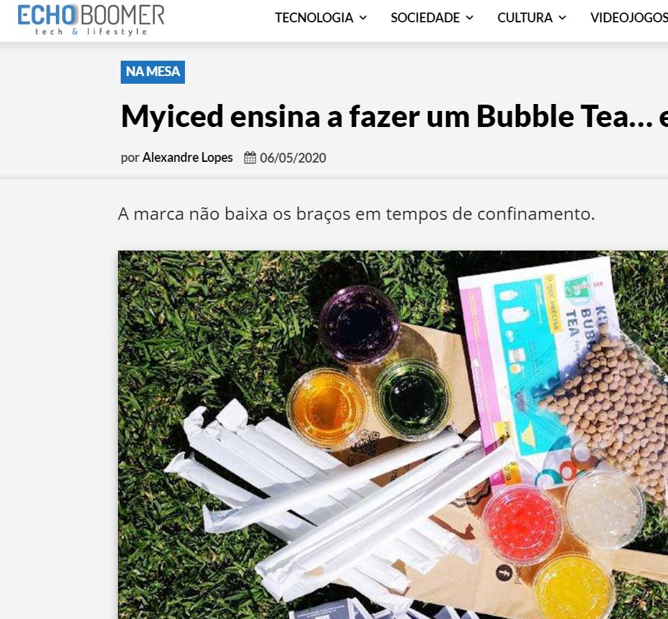 EchoBoomer - Myiced ensina a fazer um Bubble Tea… em casa