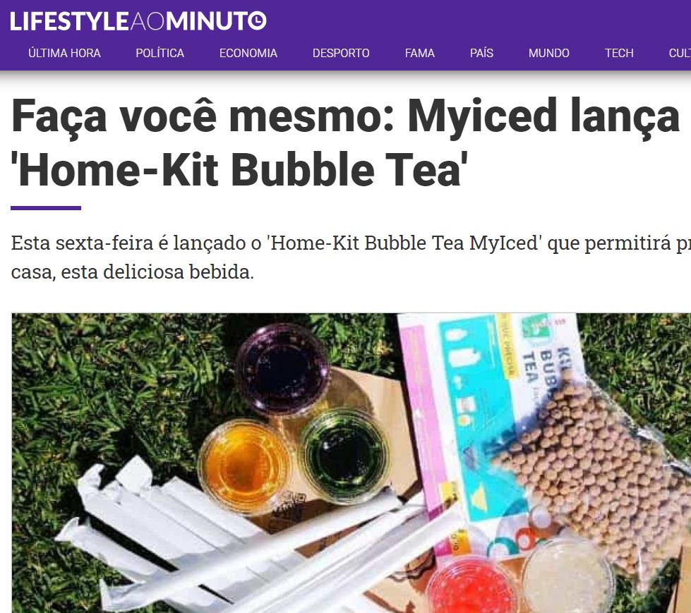 Lifestyle ao Minuto - Faça você mesmo - Myiced lança Home Kit - Bubble Tea