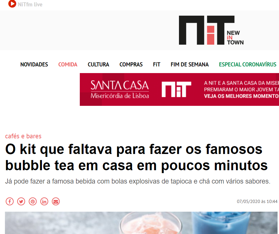 NiT - O kit que faltava para fazer os famosos bubble tea MyIced em casa em poucos minutos