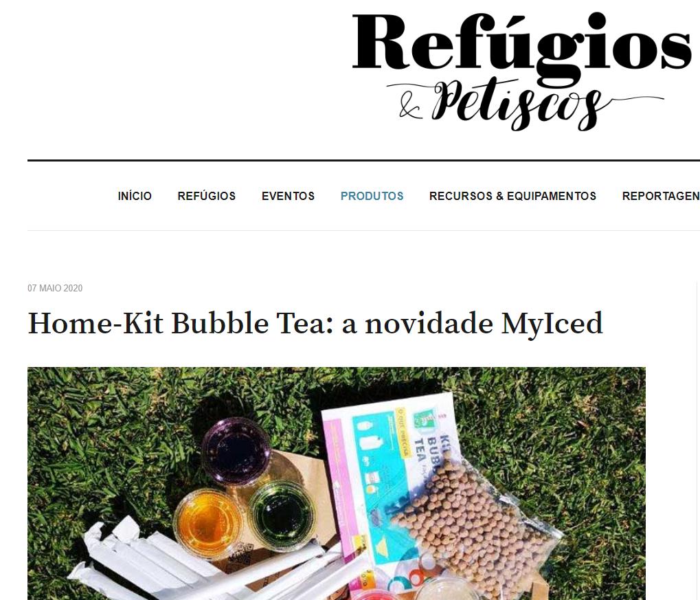 Refúgios e Petiscos - Home-Kit Bubble Tea, a novidade MyIced