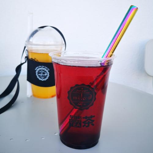 Shop Myiced - Palhinha metálica com bolsa e escova bubble tea (e)