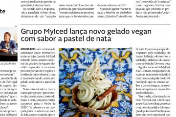 Diário de Leiria - Grupo MyIced lança novo gelado vegan com sabor a pastel de nata