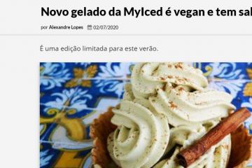 EchoBoomer - Novo gelado da MyIced é vegan e tem sabor a pastel de nata