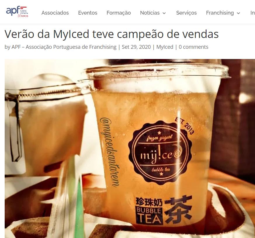 Associação Portuguesa de Franchising - Verão da MyIced teve campeão de vendas