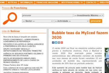 BestFranchising - Bubble teas da MyIced fazem furor no verão 2020
