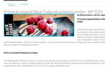 ComprarFranchising - Promoção especial Black Friday em produtos pretos - MyIced