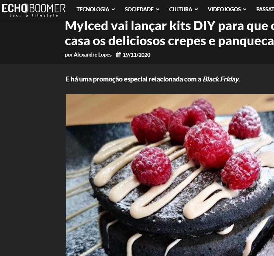 EchoBoomer - MyIced vai lançar kits DIY para que os clientes possam confecionar em casa os deliciosos crepes e panquecas da marca