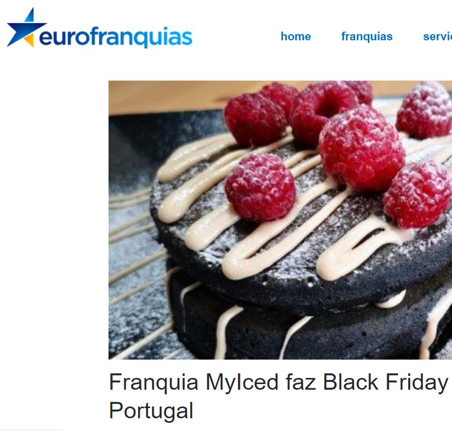 EuroFranquias - Franquia MyIced faz Black Friday ampliada em Portugal