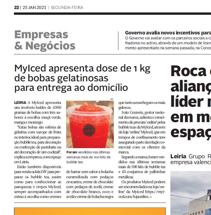 Diário de Leiria - MyIced apresenta dose de 1kg de bobas gelatinosas para entrega a domicílio