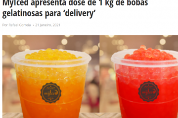 Distribuição Hoje - MyIced apresenta dose de 1 kg de bobas gelatinosas para 'delivery'