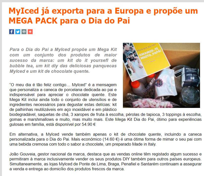 BestFranchising - MyIced já exporta para a Europa e propõe um MEGA PACK