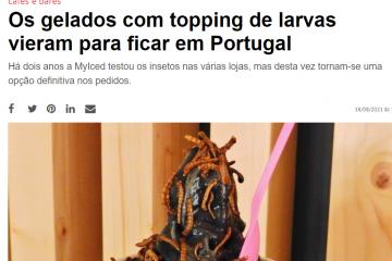 NiT - Os gelados com topping de larvas vieram para ficar em Portugal